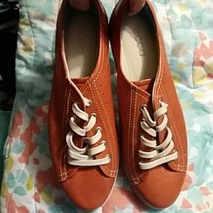 NEW ECCO Leather Casual Sneakers /  Size 9.5 M